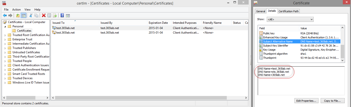 Quick Tip Self Signed Certificates Made Easy With Powershell