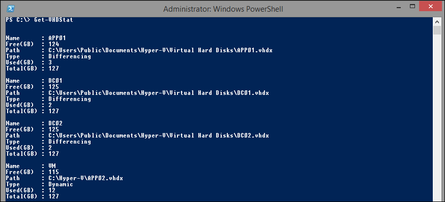 how to get size of byte string in powershell