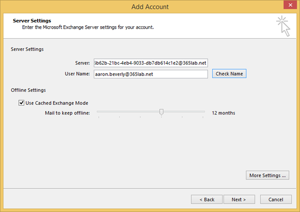 How to manually configure an outlook profile for office - Office 365 server settings for outlook 2013 ...