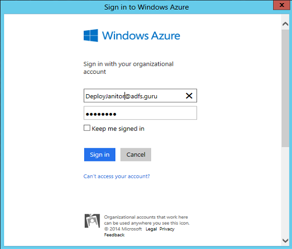 Set up ADFS in Azure | Tailspintoys – 365lab net