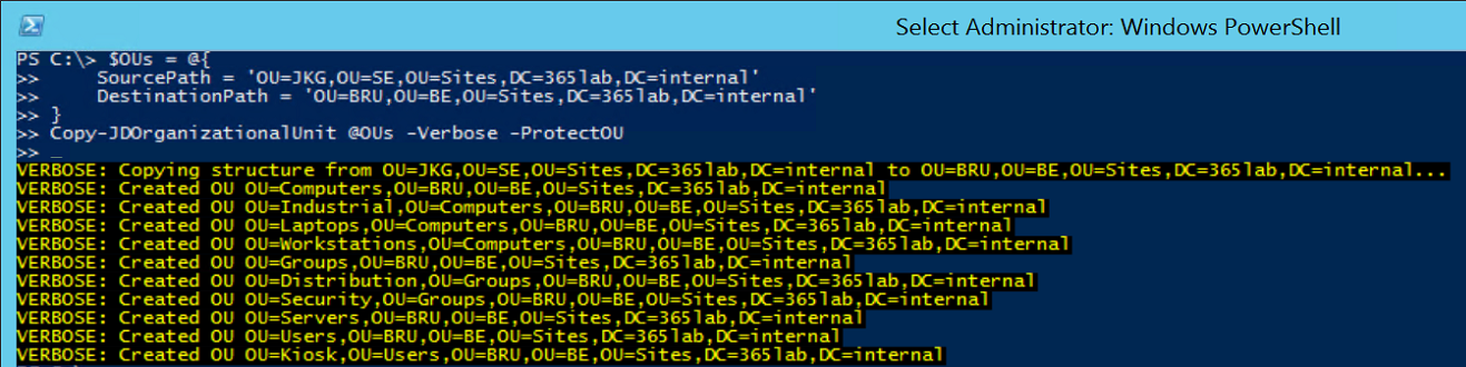 Automating the creation of an ou structure based on a template 2014 11 2823 13 57 maxwellsz
