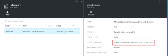 Domain Join AzureRM VM's with PowerShell | Tailspintoys